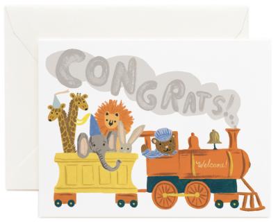 Little Engine Congrats Card Rifle Paper