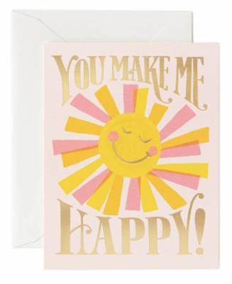 You make me happy Card Rifle