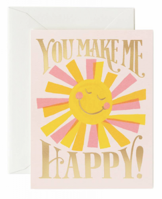 You make me happy Card Rifle