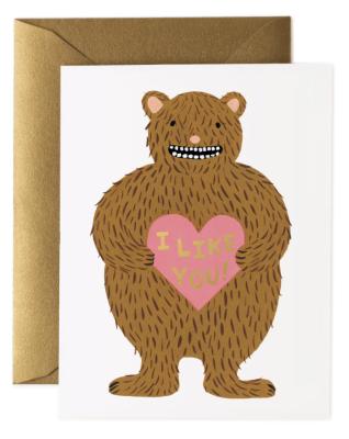 I Like You Card - Greeting Card