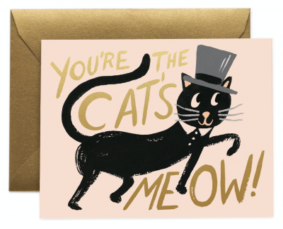 Cats Meow Card - Greeting Card
