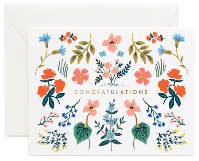 Wildflower Congrats Card Rifle Paper Co