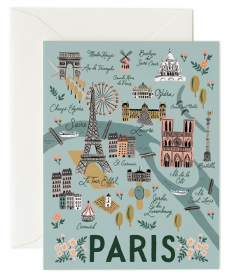 Paris Card - Greeting Card