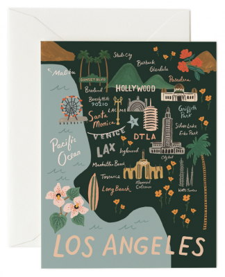 Los Angeles Card - Greeting Card