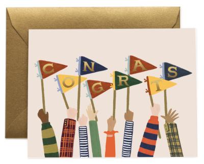 Congrats Pennants Card - Greeting Card