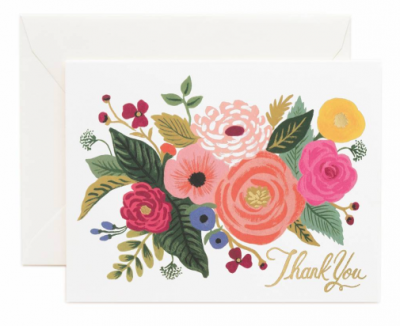 Juliet Rose Thank You Card Rifle