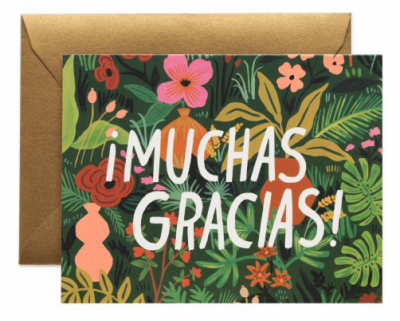 Muchas Gracias Card - Rifle Paper Co.