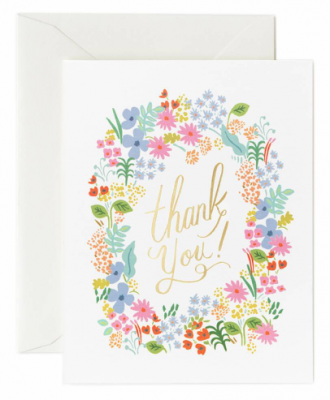 Prairie Thank You Card Rifle Paper