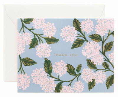 Hydrangea Thank You Card Greeting Card