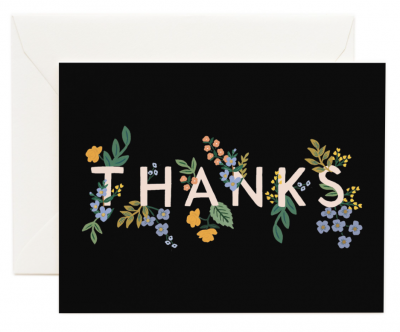 Posey Thank You Card Greeting Card