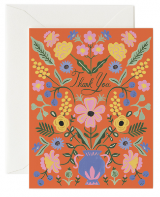 Gabriella Thank You Card Greeting Card