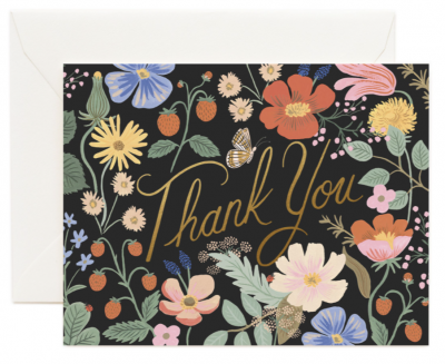 Strawberry Thank You Card Greeting Card
