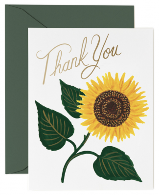 Sunflower Thank You Card Rifle Paper