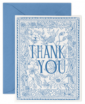 Delft Thank You Card Rifle Paper