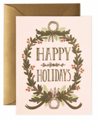 Gold Foil Garland Card - Rifle Paper Co.