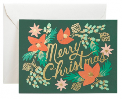 Wintergreen Christmas Card Rifle Paper Co