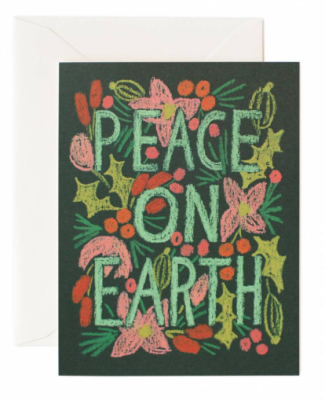 Peace on Earth Card - Rifle Paper Co.