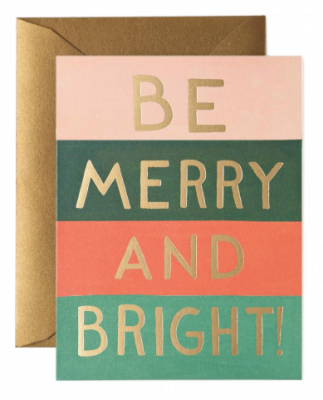 Be Merry and Bride Color Block Card - Rifle Paper Co.