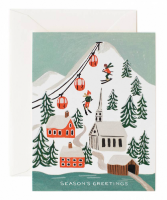 Holiday Snow Scene Card Rifle Paper