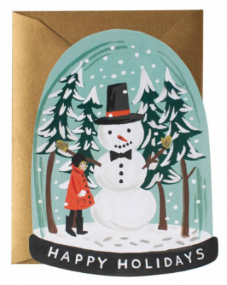Snow Globe Card Rifle Paper Co