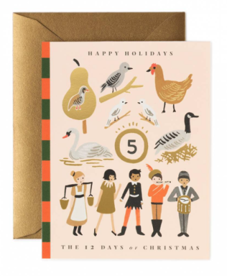 12 Days of Christmas Story Card - Rifle Paper Co.