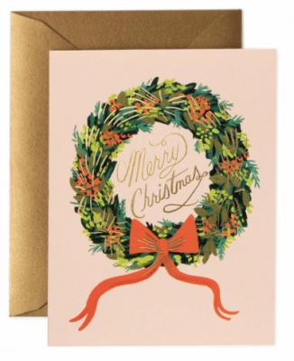 Christmas Wreath Card Rifle Paper Co