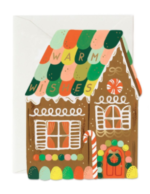 Gingerbread House Card - Rifle Paper Co.