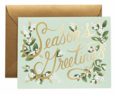 Mistletoe Season s Card Rifle Paper Co