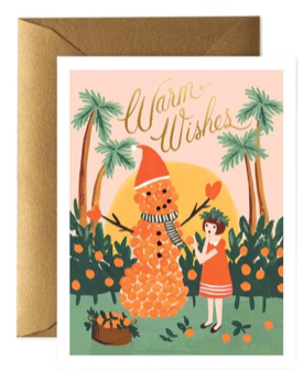 Warm Wishes Snowman Card - Rifle Paper Co.