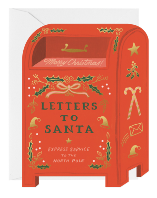 Letters To Santa Card - Greeting Card