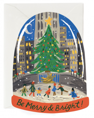 Skating In The City Card Greeting
