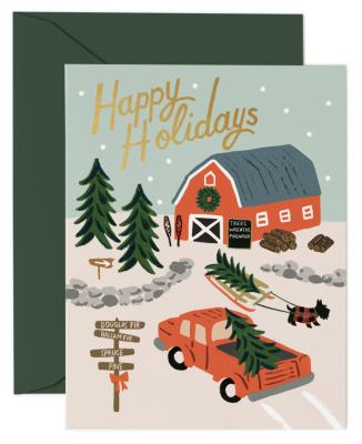 Holiday Tree Farm Card Greeting Card