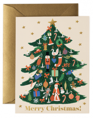 Trimmed Tree Card - Greeting Card