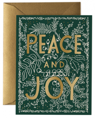 Evergreen Peace Card Rifle Paper Co