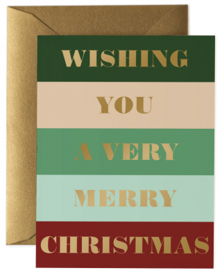 Color Bar Christmas Card Rifle Paper