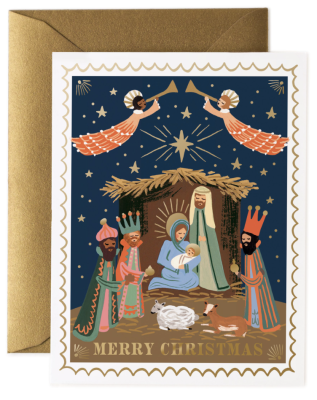 Christmas Nativity Card Rifle Paper Co