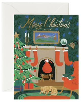 Christmas Eve Scene Card Rifle Paper