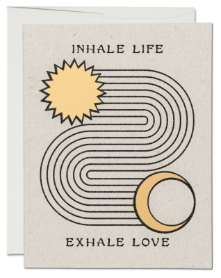 Inhale Exhale Card Red Cap Cards