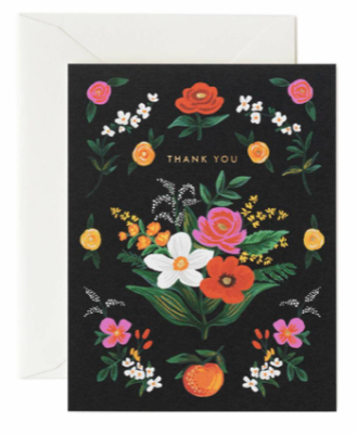 Orangerie Thank You Card - Rifle Paper Co.