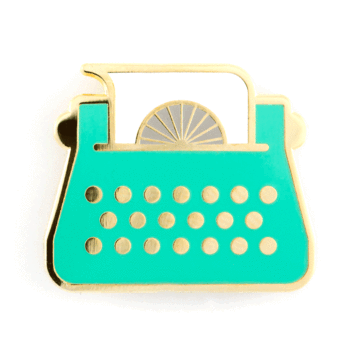 Typewriter - Enamel Pin