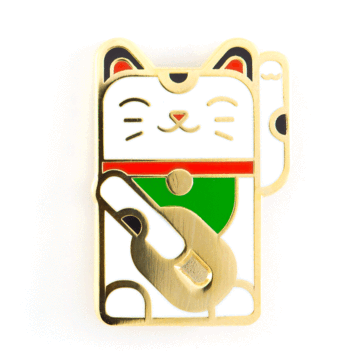 Lucky Cat - Enamel Pin