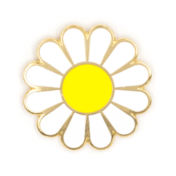 White Daisy - Enamel Pin