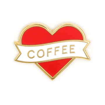Heart Coffee - Enamel Pin
