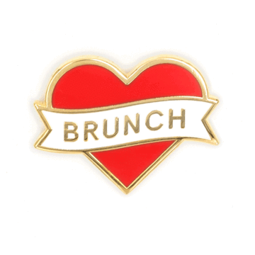 Heart Brunch - Enamel Pin