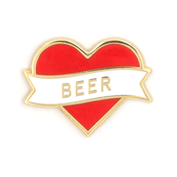Heart Beer - Enamel Pin