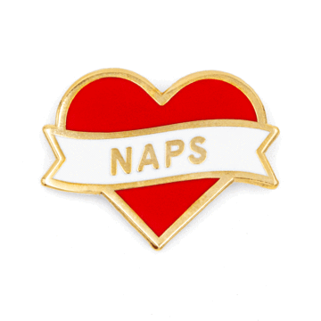 Heart Naps - Enamel Pin