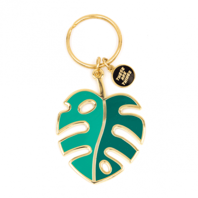 Monstera Leaf - Enamel Keychain