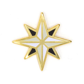 Compass Rose - Enamel Pin