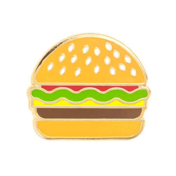 Burger Rose - Enamel Pin