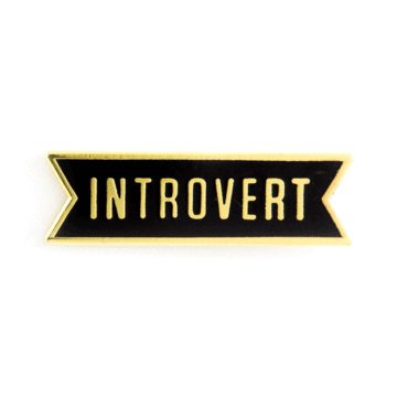 Introvert - Enamel Pin